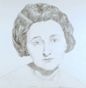 Ethel Rosenberg, 1975, graphite on paper, 23