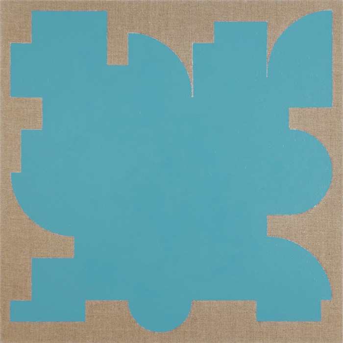 Resting State – Turquoise, 2015, oil on linen, 32 x 32